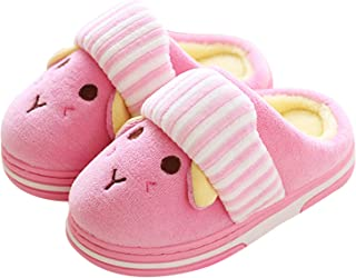 Girl Cute Home Slippers Kid Fur Lined Winter House Slippers Warm Indoor Slippers for Boys