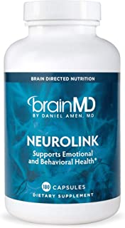 Dr. Amen brainMD NeuroLink - 180 Capsules - Stress Relief & Mood Support Supplement, Promotes Optimal Brain...