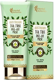 Oriental Botanics Australian Tea Tree Peel Off Mask 100gm | For Acne Prone & Oily Skin, No SLS and Paraben