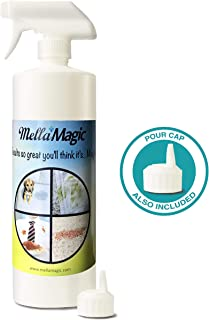 Mella Magic Enzyme Pet Stain & Odor Remover, Natural, Organic & Environmentally Friendly Cleaner Used by Professionals, Size: 32 oz