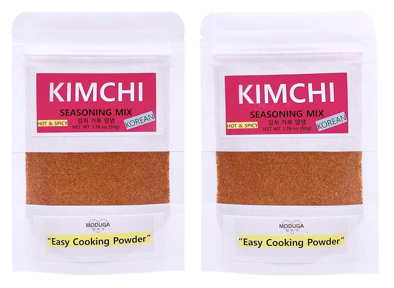 MODUGA's Gourmet Korean Kimchi Max 41% OFF Seasoning Spicy Memphis Mall #2 Hot 1.76Oz