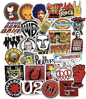 Cool Rock Punk Music Band Vinyl Laptop Stickers Car Skateboard Motorcycle Bicycle Luggage Guitar Bike Decal 52pcs Pack