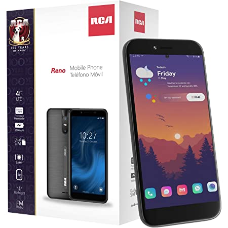 RCA Reno, 16GB, Android 10, 4G LTE Unlocked Smartphone (Black)