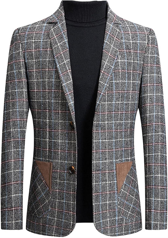 XYXK Men's Slim Fit Lightweight Casual Suit Blazer Jackets Lightweight Sports Coats Jacket Blazer Sport Coat (Color : Gray, Size : M)