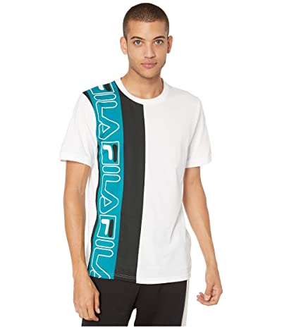 Fila Dixon Tee (White/Black/Harbour Blue) Men
