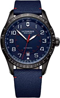 Victorinox - Hombre Airboss Mechanical Reloj automático de fabricación Suiza - Negro/Azul Marino 241820