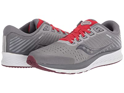 Saucony Kids S-Guide 13 (Little Kid/Big Kid) (Alloy/Red) Boys Shoes
