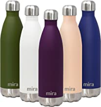 MIRA 25 Oz Stainless Steel Vacuum Insulated Water Bottle | Double Walled Cola Shape Thermos | 24 Hours Cold, 12 Hours Hot | Reusable Metal Water Bottle | Leak-Proof Sports Flask | Iris