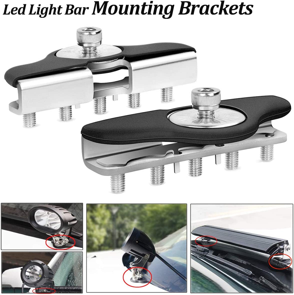 LEDMIRCY Led Light Bar Mounting Universal Brackets 2PCS trend rank Adjustab Cheap mail order shopping