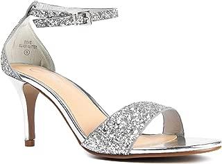 Low Ankle Strap Kitten Heel - Essential Mid Heel Open Toe Dress Sandal - Dove
