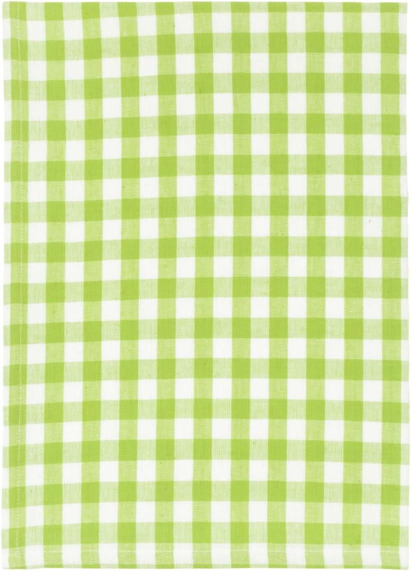 100% Cotton Green White Checked 20