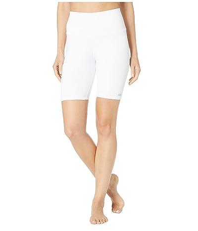 ALO High-Waisted Biker Shorts (White) Women