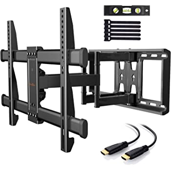 Soporte TV de Pared Articulado Inclinable y Giratorio para Pantallas de 37-75 Pulgadas, hasta 60 kg, MAX VESA 600x400mm, Cable HDMI Y Nivel de Burbuja Incluidos