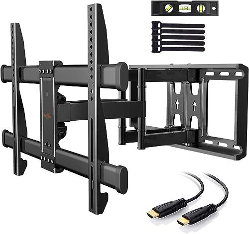 Support Mural TV Perlegear pour écrans 37-75 Pouces LED LCD Plasma et courbé Support TV Inclinable et orientable avec...