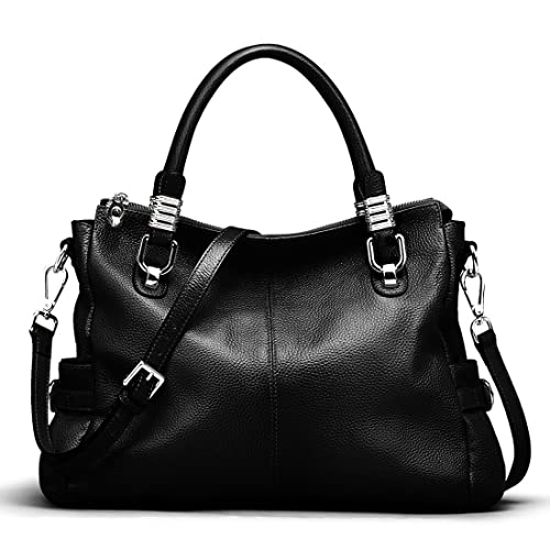 38ace3c5465d1 S-ZONE Women s Vintage Genuine Leather Handbag Shoulder Bag Satchel Tote  Bag Purse Crossbody Bag