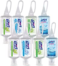 PURELL Advanced Hand Sanitizer Gel, Variety Pack, 8 -1 fl oz Portable, Travel Sized Flip Cap Bottles with included JELLY WRAP Carriers (Case of 8) - 3900-09-ECSC