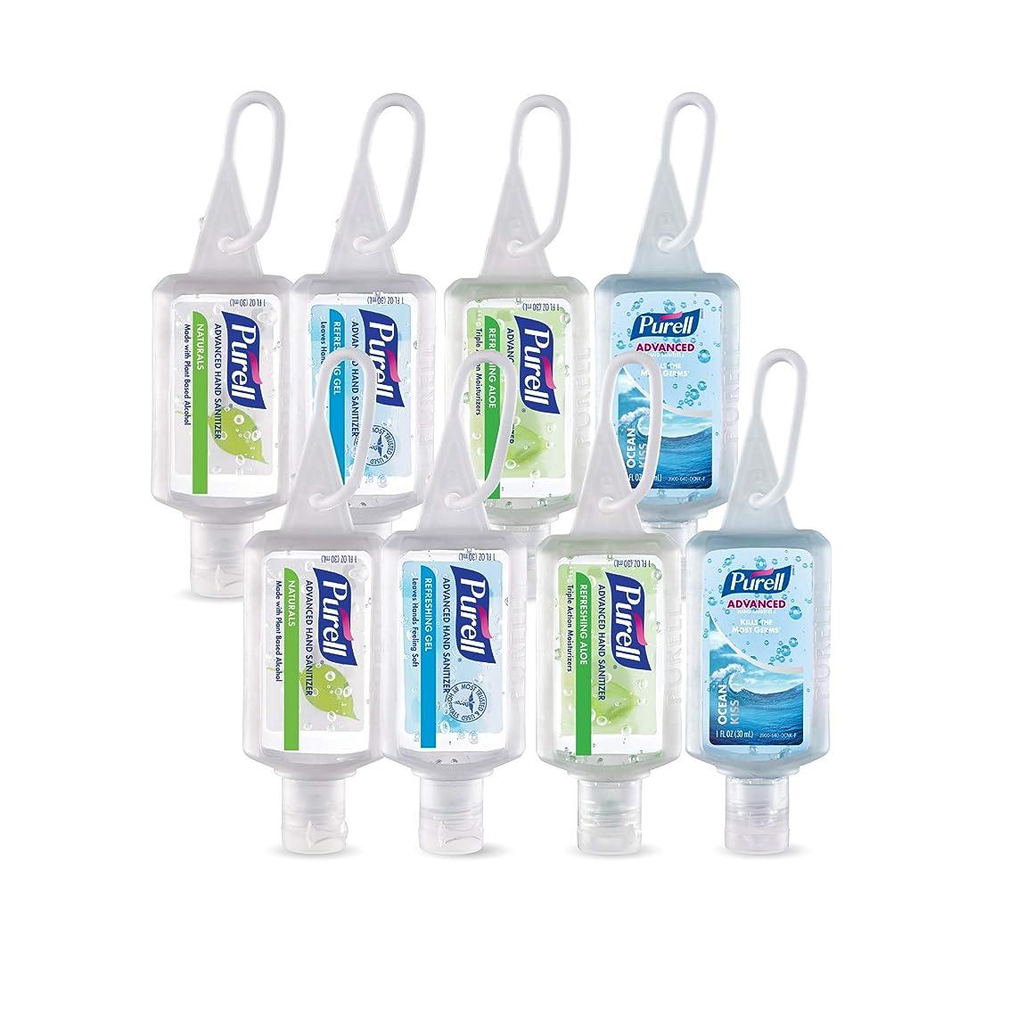 勃起恩赦風Purell高度なインスタントHand Sanitizer?–?トラベルサイズJellyラップポータブルSanitizerボトル、香りつき (1 oz, Pack of 8) 3900-08-ECINSC 8