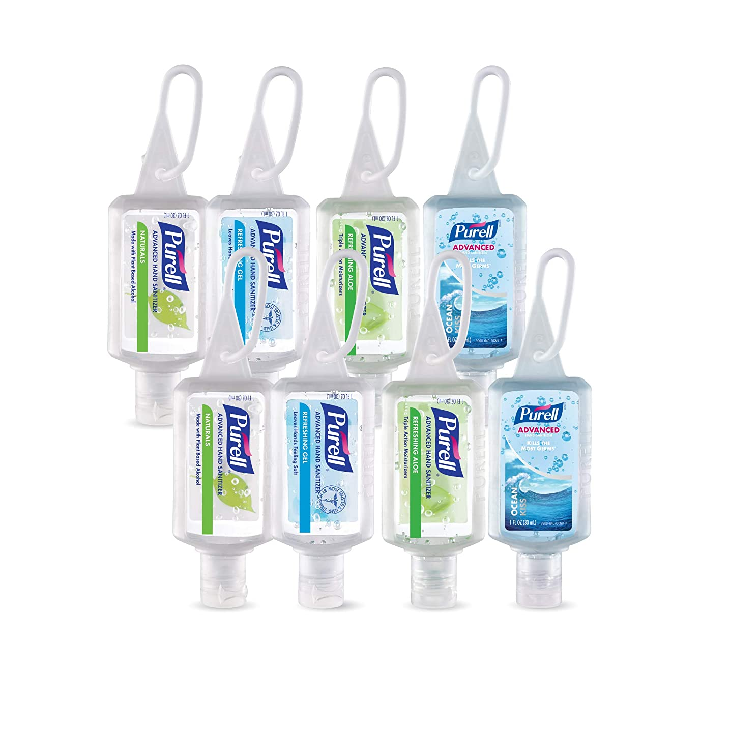 亜熱帯甲虫一時停止Purell高度なインスタントHand Sanitizer?–?トラベルサイズJellyラップポータブルSanitizerボトル、香りつき (1 oz, Pack of 8) 3900-08-ECINSC 8