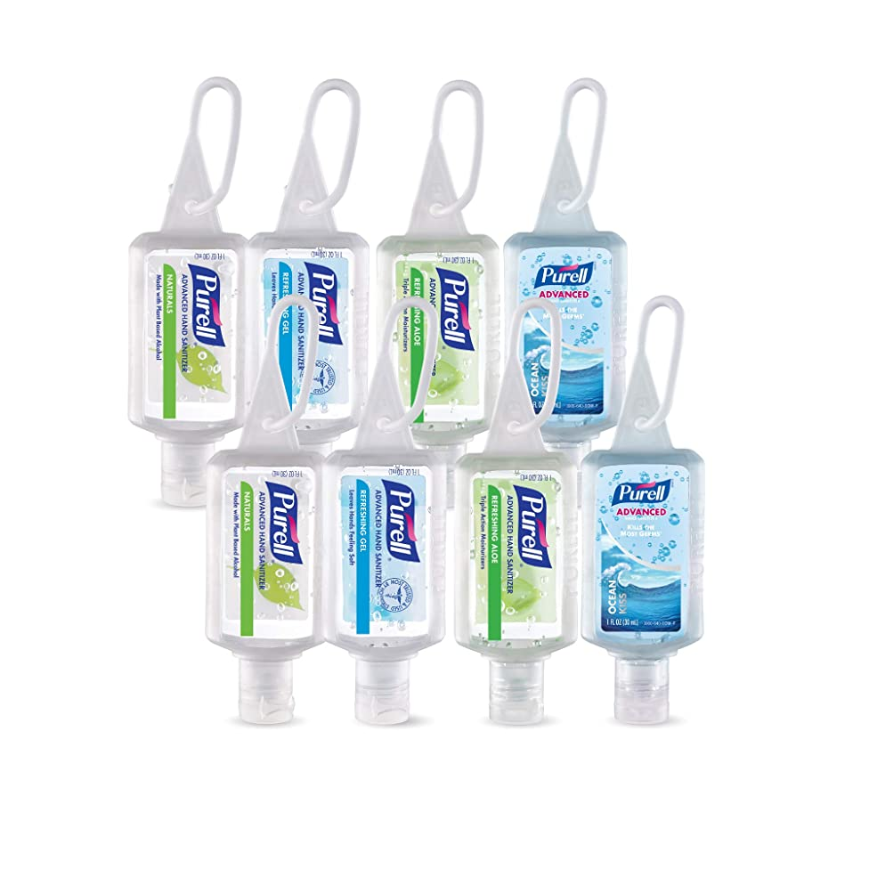 測定可能慎重申し立てられたPurell高度なインスタントHand Sanitizer?–?トラベルサイズJellyラップポータブルSanitizerボトル、香りつき (1 oz, Pack of 8) 3900-08-ECINSC 8
