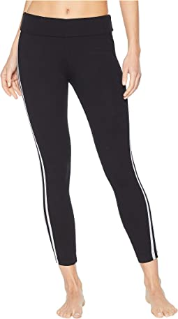 Flat Waist Racing Stripe Ankle Leggings