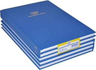 FIS 5-Piece Manuscript Notebooks Set, 8mm Single Ruled, A4 (210 x 297 mm) Size, (5x144 Sheets) - FSMNA43Q