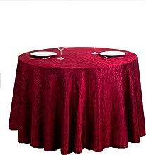 LinenTablecloth Round Crinkle Taffeta Tablecloth, 106, Burgundy