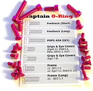 Captain O-Ring Color Accent Screw Kit for Eclipse Ego8, Ego9, Ego10, Ego11, Etek3, Etek4, ETHA, GEO1, GEO2, GEO3, LV1, CS1