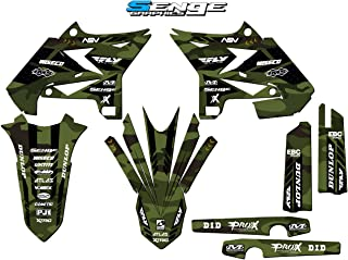 Senge Graphics kit compatible with Yamaha UFO RESTYLED 2002-2004 YZ 125/250 (2-Stroke), Apache Matte Green (MATTE FINISH) Base Graphics Kit