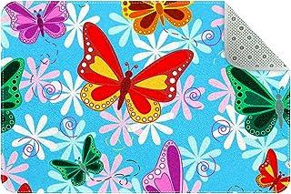 Doormat Custom Indoor Welcome Door Mat, Colorful Butterfly Home Decorative Entry Rug Garden/Kitchen/Bedroom Mat Non-Slip R...