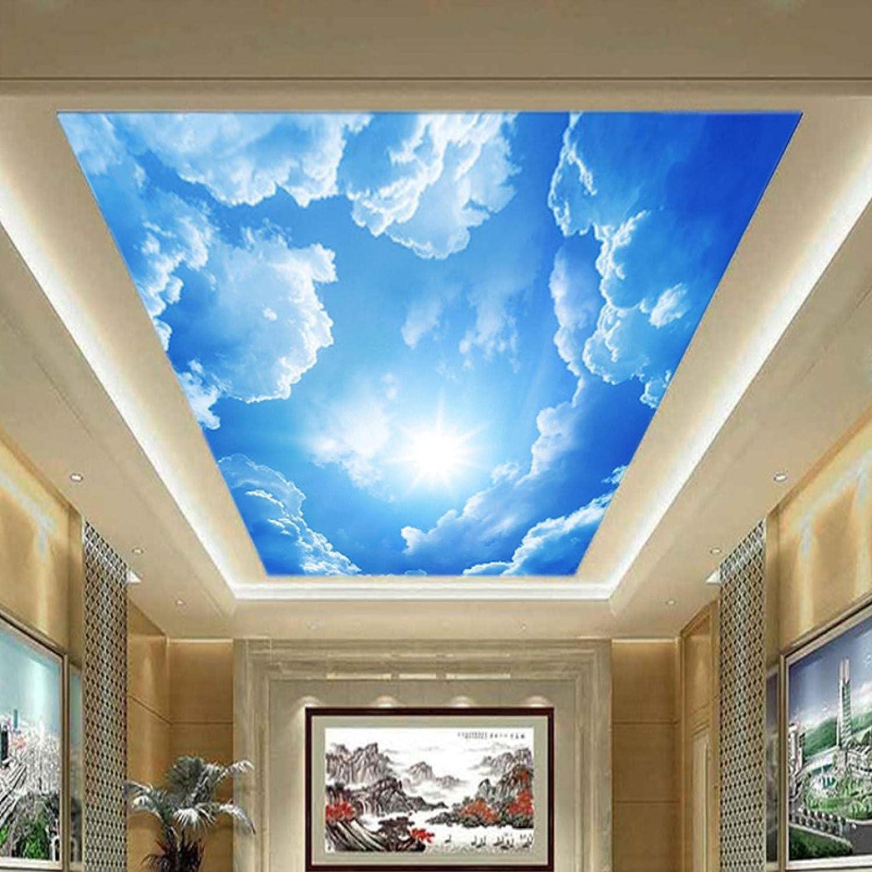 HGFHGD 20D Photo Wallpaper Blue Sky White Cloud Wallpaper Indoor ...