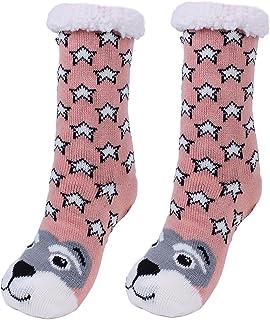 Calcetines antideslizantes para mujer, diseño de animales, muy suaves
