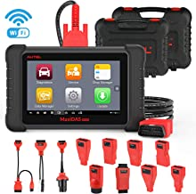 Autel MaxiDAS DS808K Automotive Diagnostic Scanner Car Scan Tool with OE-Level All Systems Diagnosis, Key Fob Programming, Active Tests, ABS Bleed, Oil Reset EPB SAS BMS TPMS Relearn DPF Regeneration
