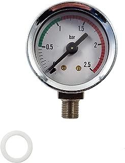 La Pavoni Espresso Machine Boiler Pressure Gauge - Chrome - For Lever Pre and Post Millenium Europiccola, Professional and Stradivari.