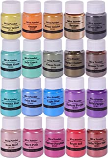 Biutee Natural Mica Powder Epoxy Pigments 20 Colors Soap Making Dyes Slime Powder Pearlescent Glitter Resin Art for Soap Making/Bath Bomb