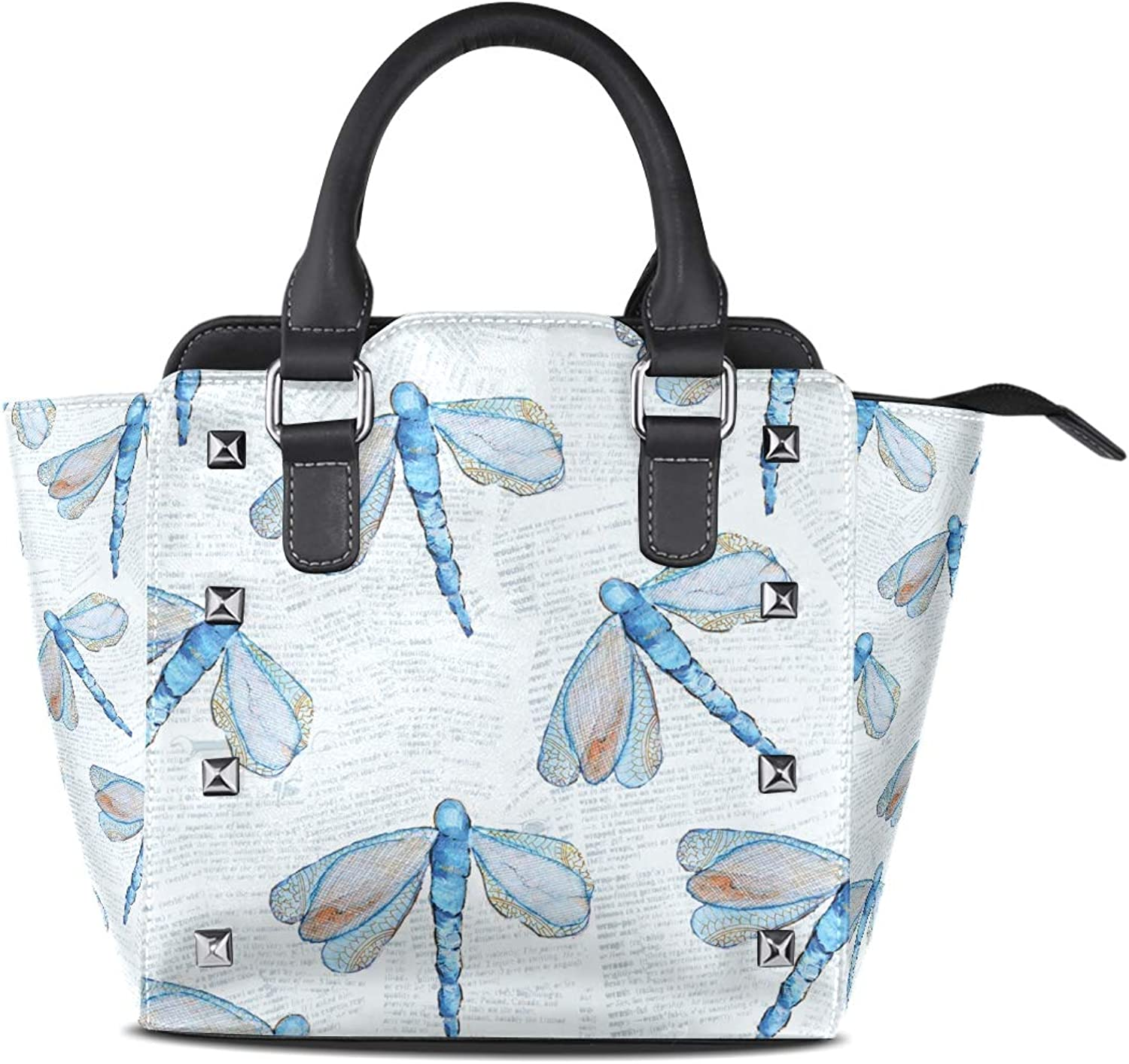 Women's Handbags Dragonfly Pattern Tote