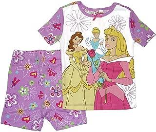 Disney Store Princesses Short Sleeve Tight Fit Pajama Set Girl Size 4 5 6
