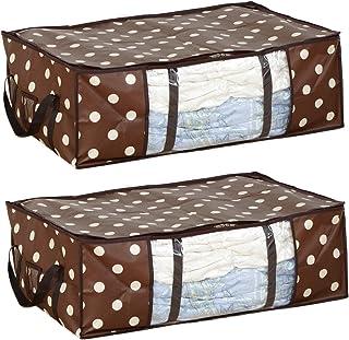 圧縮プラス Dスタイル ドット柄 ふとん用 2個セット‐D-Style 収納ケース 布団用 水玉柄 布団圧縮袋 一体型 表面PPフィルム加工 逆流防止バルブ付