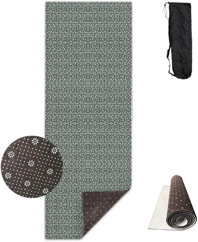 70Inch Long 28Inch Wide Comfort Velvet Yoga Mat, Stroke Fall Blossom 124 Fabric (2817) Mat Carrying Strap & Bag