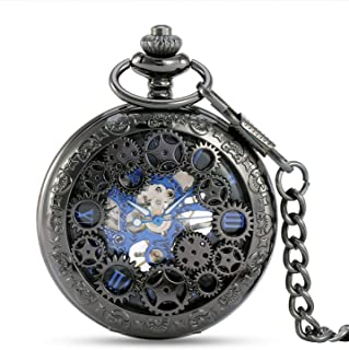 Mechanical Pocket Watch, Creative Gear Appearance, Mechanical Movement/No Battery, Punk Style, Decorative Gifts