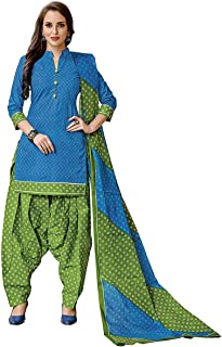 PRANJUL Women's Cotton Patiyala Chudider (Fully Stitched)