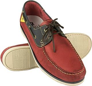 Zerimar Chaussures Bateau en Cuir pour Hommes | Chaussures Nautiques | Mocassins | Grandes Tailles 47-50