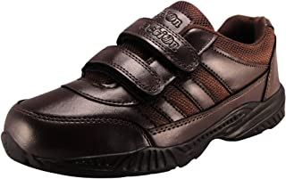 Action Shoes Boy's and Girl's Synergy Brown School Shoes