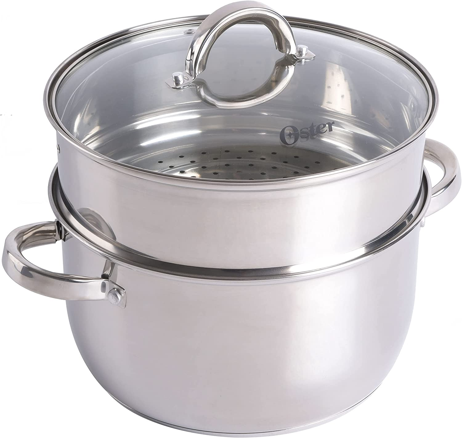 Oster New product! New type Sangerfield 6 Qt Dutch Super beauty product restock quality top with Oven Casserole Basket Steamer