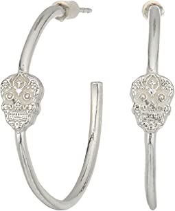 Calavera Hoop Earrings