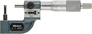 Mitutoyo 295-313 Tube Micrometer, Mechanical Counter Model, Ratchet Stop, 0-1