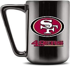 Duck House NFL SAN FRANCISCO 49ERS Ceramic Coffee Mug - Metallic Black, 16oz