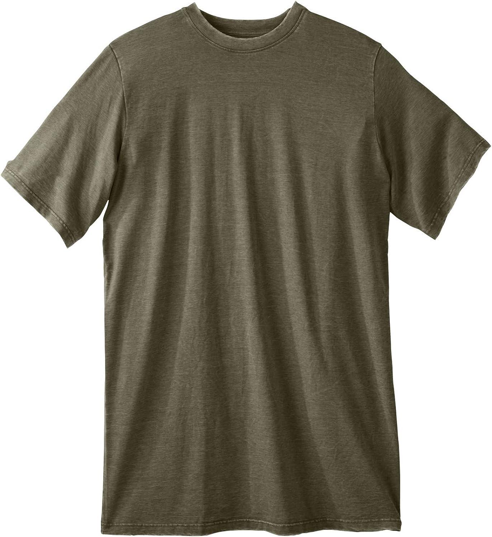 Liberty Blues Men's Big & Tall Longer-Length Short-Sleeve T-Shirt