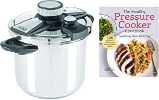 Viking Stainless Steel Pressure Cooker bundle with The Healthy Pressure Cooker Cookbook - 8 Quart