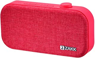 ZAKK Lounge Portable Bluetooth Wireless Speaker with Fabric Design, Supports Micro SD/TF Card, AUX, Bluetooth V4.2 (Red)