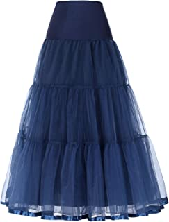 SCARLET DARKNESS Women's Ankle Length Petticoats Crinoline Underskirt for Long Dress